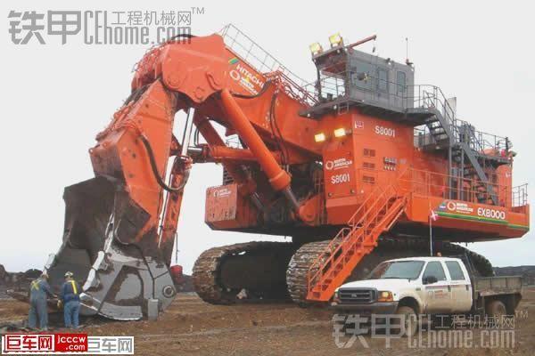 日立最大的液压挖掘机---ex8000