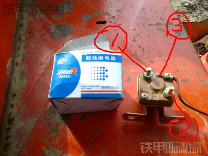 802换点火开关加装启动继电器