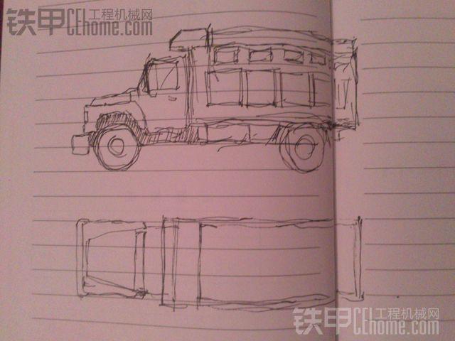 汽车手工制作图纸