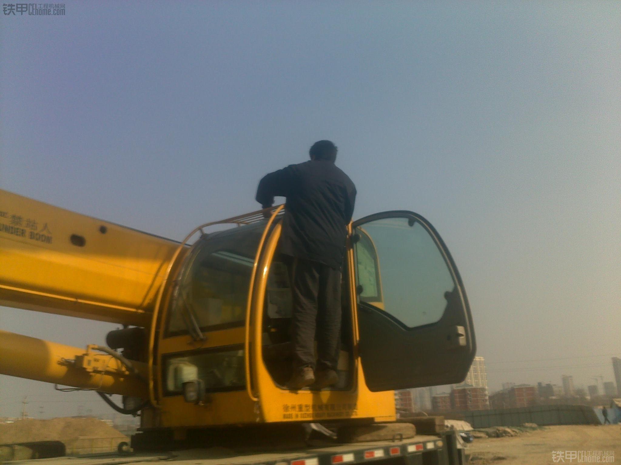 徐工qy25k起重机吊车吊装作业