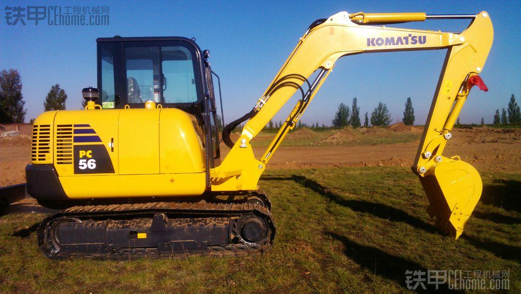晒晒我的新挖小松PC56 7挖掘机